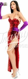 Trashy Lingere Red Sequin Ms. Rabbit Dress